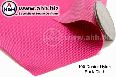 Nylon Pack Cloth Fabric - 400 Denier - a medium weight water resistant fabric