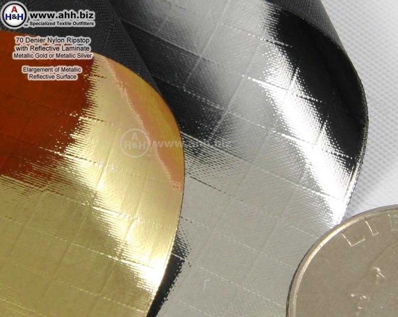 Metallic Mirror 70 D Nylon Ripstop Fabric