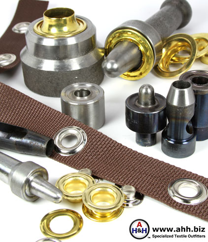 Grommet Setting Tools & Grommets in Brass & Stainless Steel