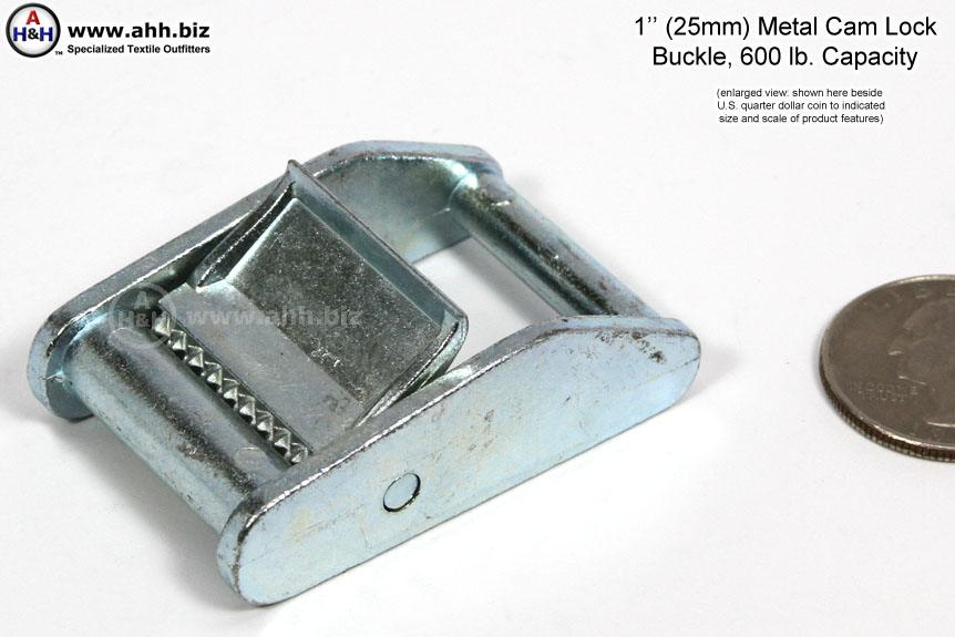 Metal Cam Buckle 1 Inch Light Duty