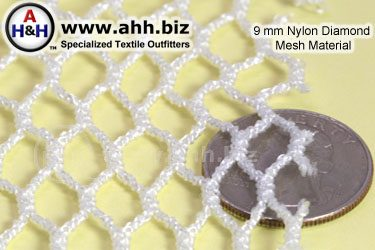 9mm Nylon Diamond Mesh