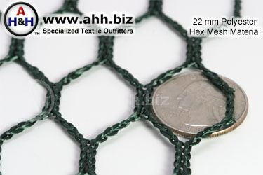 22mm Polyester Hex-Mesh Netting