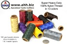 Heavy Duty Thread for sewing heavy duty fabrics and leather. Fits in standard sewing machines.