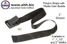 general purpose straps with highly adjustable cam lock buckles