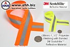 Reflective Webbing in Neon colors with 3M Scotchlite™- 38mm