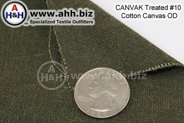 CANVAK Treated Olive Drab Number 10 Cotton Canvas