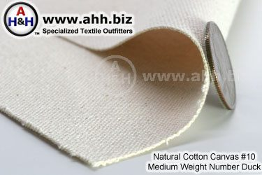 Natural Cotton Canvas #10 Mediumweight Number Duck
