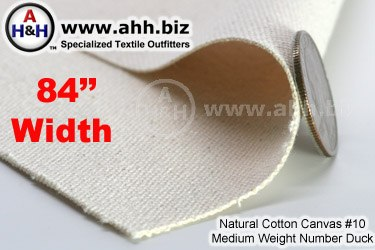 Wide 84″ Natural Cotton Canvas #10 Mediumweight Number Duck