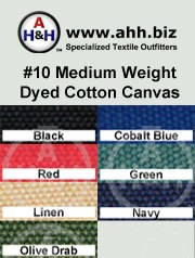 #10 Mediumweight Dyed Cotton Number Duck Canvas: is available in these colors