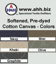Softened Dyed Cotton Canvas Fabric: is available in these colors