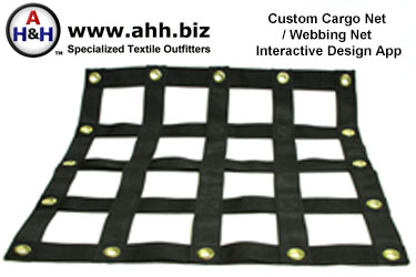 Custom Made Cargo Nets and Webbing Nets - Interactive Online Webbing Net Diagram Creator App ®2018 American Home & Habitat Inc.