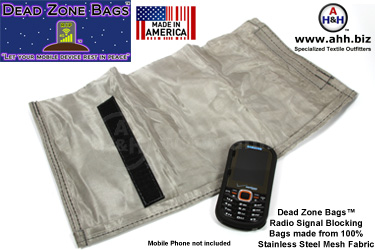 Dead Zone Bags™ radio signal blocking bags for mobile device privacy