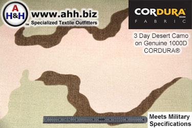 Three Day Desert Camo on 1000 Denier Nylon CORDURA® Fabric
