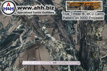 True Timber® MC2 high detail Camouflage Pattern on 600 D Polyester
