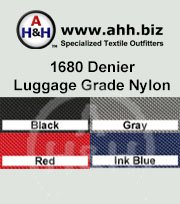 1680 Denier Luggage Grade Nylon Fabric - Heavy Duty water resistant fabric is available in these colors