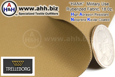 High Abrasion Resistant Neoprene Kevlar Coated (HANK) 18oz