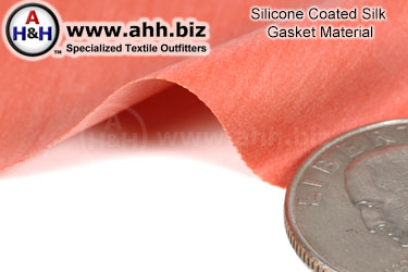 Silicone Coated Silk Gasket Material