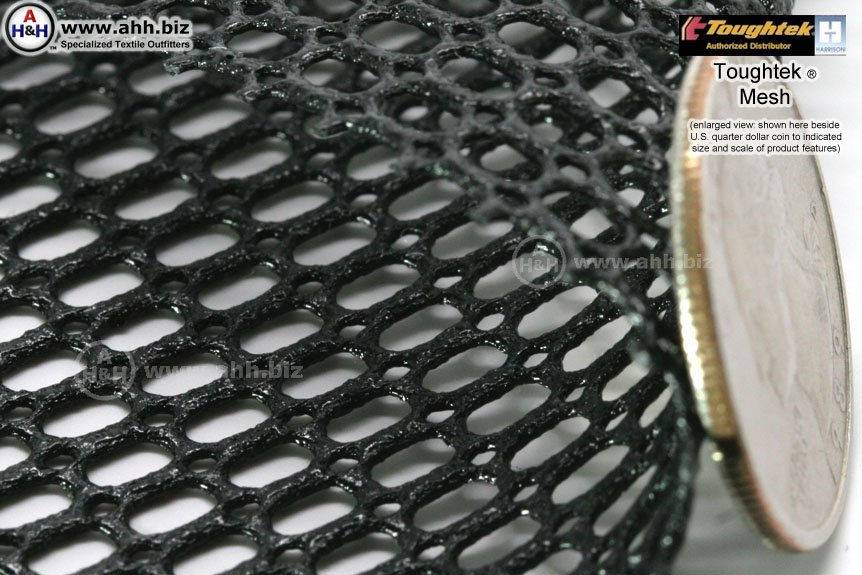 Toughtek® non-slip rubberized mesh material