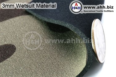 3mm Wetsuit Material with fine Stretchable Nylon Laminate