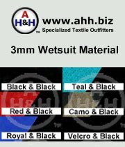3mm Wetsuit Material with fine Stretchable Nylon Laminate: is available in these colors