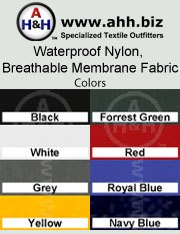 Waterproof Breathable Membrane Fabric: is available in these colors