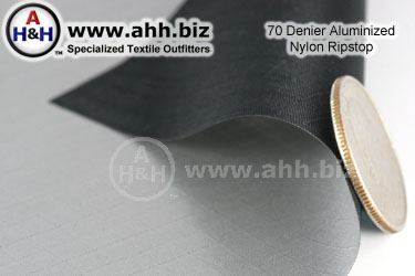 Aluminized 70 Denier Nylon Ripstop Fabric