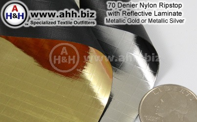Metallic Finish 70 Denier Nylon Ripstop