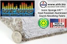 Sonic Sponge™ HR - Heat Insulating Aluminized Sound Absorbing Fabric