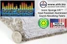 Sonic Sponge™ HR - Heat Insulating Aluminized Sound Absorbing Fabric