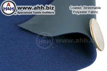 Stretchable Polyester Fabric Coated with Polyurethane