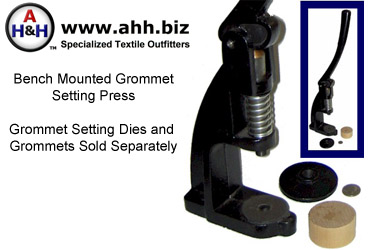Bench Mounted Grommet Setting Press - Dies and Grommets sold Separately