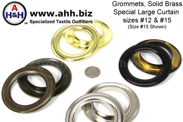Brass Metal Curtain Grommets