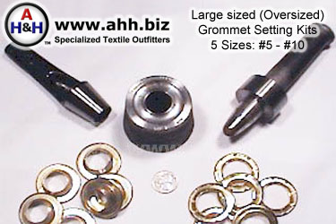 Large, Over Sized Grommet Setting Kits #5 - #10 For Rent