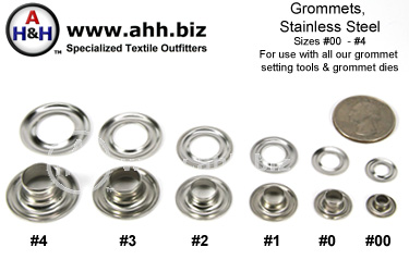 Stainless Steel Grommets, plain rim