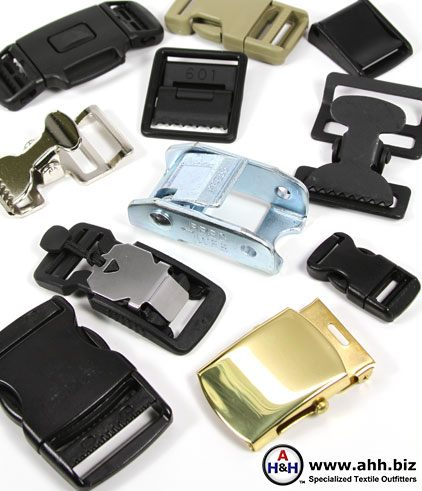 Buckles for Webbing Straps available many sizes and styles. Plastic, Metal and Magnetic