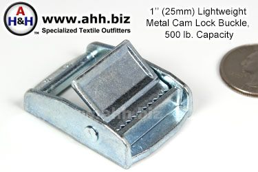 Light Weight 1 inch Metal Cam Lock Buckle 500 lb capacity