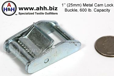 1 inch Cam lock Buckle, Metal 600lb. capacity