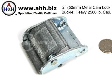 2″ (50mm) Heavy Duty Cam lock Buckle, Metal 2500lb. cap.