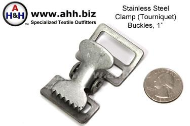 Stainless Steel Clamp (Tourniquet) Buckles, 1 inch