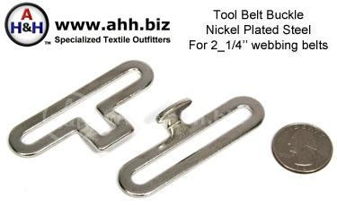 Steel Tool Belt Buckle for 2_1/4″ web belts