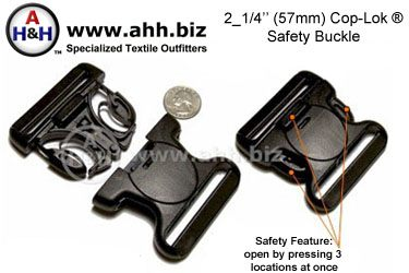 Cop Lok Specialized Buckle For 2 25 Inch Webbing Belts