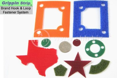 Grippin Strip™ Brand Hook and Loop Fastener System - Custom Laser Cut Shapes made to your specifications