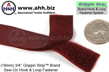3/4 inch Hook and Loop Fastener, Strip Sew-On, Similar to 3/4 inch Sew On VELCRO®