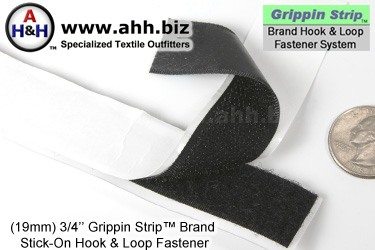 Grippin Strip™ Brand Hook and Loop Fastener Strip 19mm - similar to VELCRO®