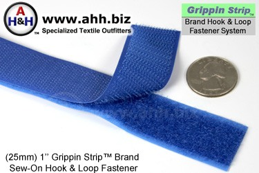 Grippin Strip™ Brand Hook and Loop Fastener Strip 25mm - similar to VELCRO®