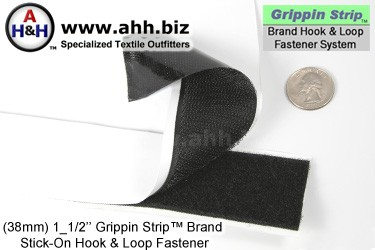 Grippin Strip™ Brand Hook and Loop Fastener Strip 38mm - similar to VELCRO®