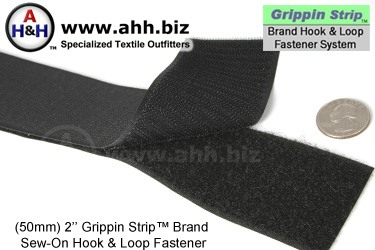 Grippin Strip™ Brand Hook and Loop Fastener Strip 50mm - similar to VELCRO®