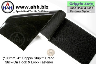 Grippin Strip™ Brand Hook and Loop Fastener Strip 100mm - similar to VELCRO®