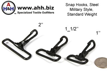 Snap-Hooks, Military Style, Standard Weight