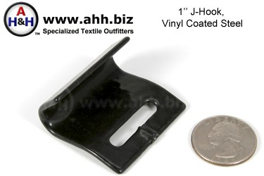 1″ (25mm)Vinyl Coated ″J″ - Hook